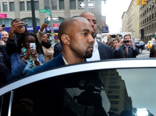 Kayne West And Kim Kardashian Sighting In New York City - April 23, 2013